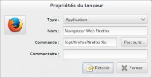 lanceur firefox