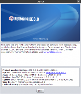 NetBeans About