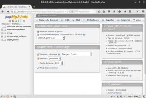 10.0.0.100 - localhost | phpMyAdmin 4.2.12deb2 - Mozilla Firefox_121