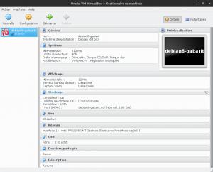 Oracle VM VirtualBox - Debian 8 gabarit