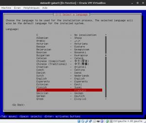 Debian 8 - Installation - Sélectionnez la langue
