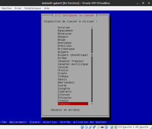 Debian 8 - Installation - Configurez le clavier