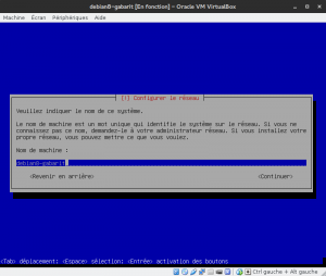 Debian 8 - Installation - Nom de la machine