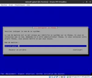 Debian 8 - Installation - Nom de la machine