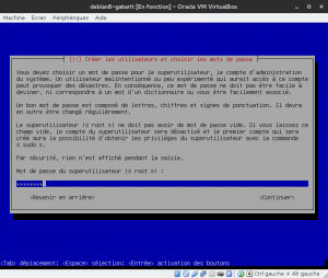 Debian 8 - Installation - Mot de passe root