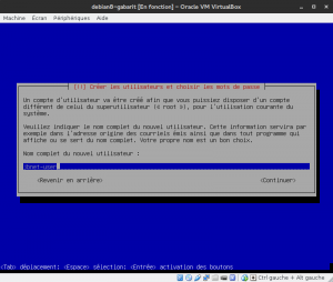 Debian 8 - Installation - Utilisateur