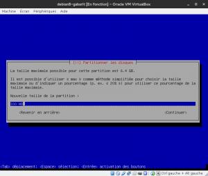 Debian 8 - Installation - Partitionnemer les disques - Créer une nouvelle partition /boot