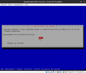 Debian 8 - Installation - Partitionnemer les disques - Emplacement au début