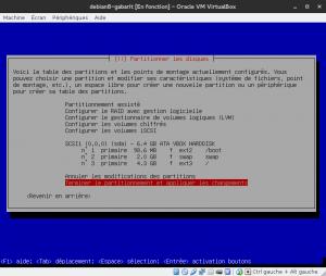 Debian 8 - Installation - Partitionnemer les disques - Configuration finale