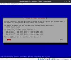 Debian 8 - Installation - Partitionnemer les disques - Appliquez les changements