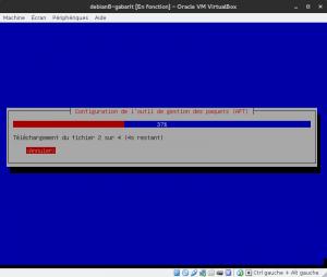 Debian 8 - Installation - Téléchargement des informations du dépôt