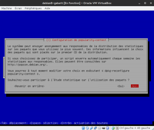 Debian 8 - Installation - Statistiques d'utilisation