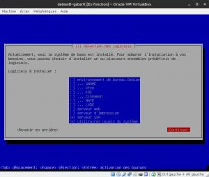 Debian 8 - Installation - Choix des logiciels