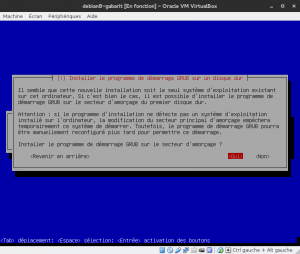 Debian 8 - Installation - Installation de GRUB