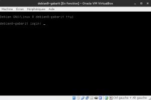 Debian 8 - Installation - Machine démarrée