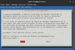 Debian 8 - phpMyAdmin - Configuration de la base de données