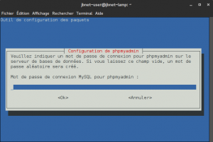 Debian 8 - phpMyAdmin - Mot de passe de connexion MySQL pour phpmyadmin