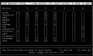 Debian - sysv-rc-conf