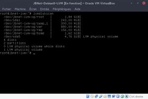 lvmdiskscan : Liste la configuration en cours