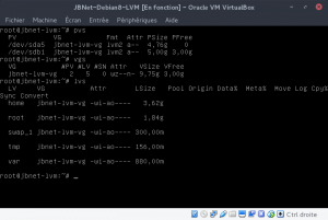JBNet Debian8 LVM - Vérification finale de la modification