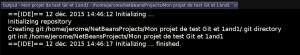 NetBeans - Git output