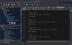 Symfony - NetBeans IDE 8.1 - Font Size Interface